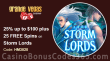 Grande Vegas Casino 25% up to $100 plus 50 FREE RTG Storm Lords Spins on Special Monday Promo