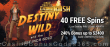Grand Rush 40 FREE Spins on Saucify Destiny Wild and the Lost Inca Gold plus 240% Match Bonus Special New Players Offer