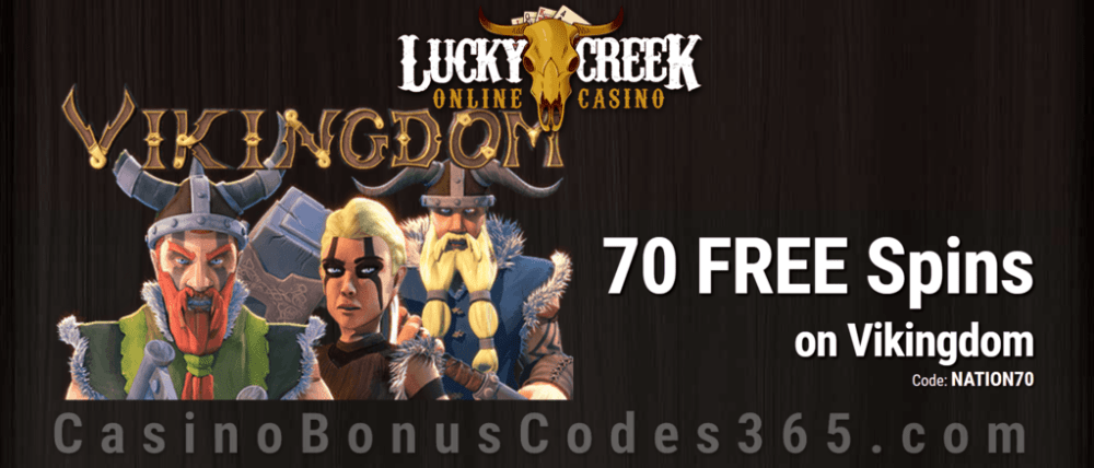 Lucky Creek Exclusive 70 FREE Saucify Vikingdom Spins Special Deal