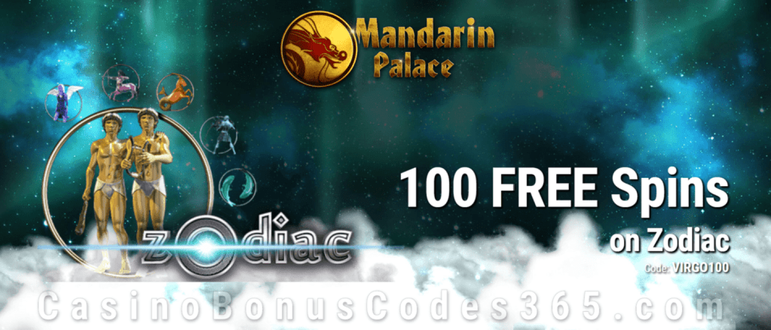 Mandarin Palace Online Casino Massive 100 FREE Saucify Zodiac Spins Exclusive Offer