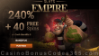 Slots Empire 240% Match plus 40 FREE Cash Bandits 3 Spins New RTG Game Welcome Bonus