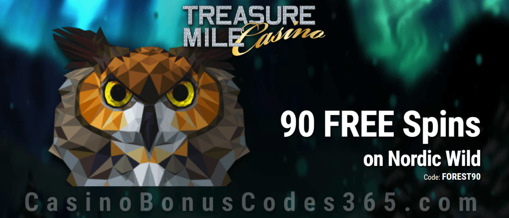 Treasure Mile Casino Exclusive 50 FREE Saucify Nordic Wild Spins