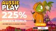AussiePlay Casino 225% Pokies Bonus plus 30 FREE Spins Aladdin's Wishes Special New Players Offer