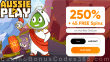 AussiePlay Casino 250% Match Pokies Bonus plus 45 FREE Achilles Deluxe Spins Special New RTG Game Welcome Deal