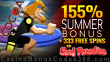 Cocoa Casino 155% Match Bonus plus 333 FREE Spins on Rival Gaming Surf Paradise Special Monthly Offer for All Players