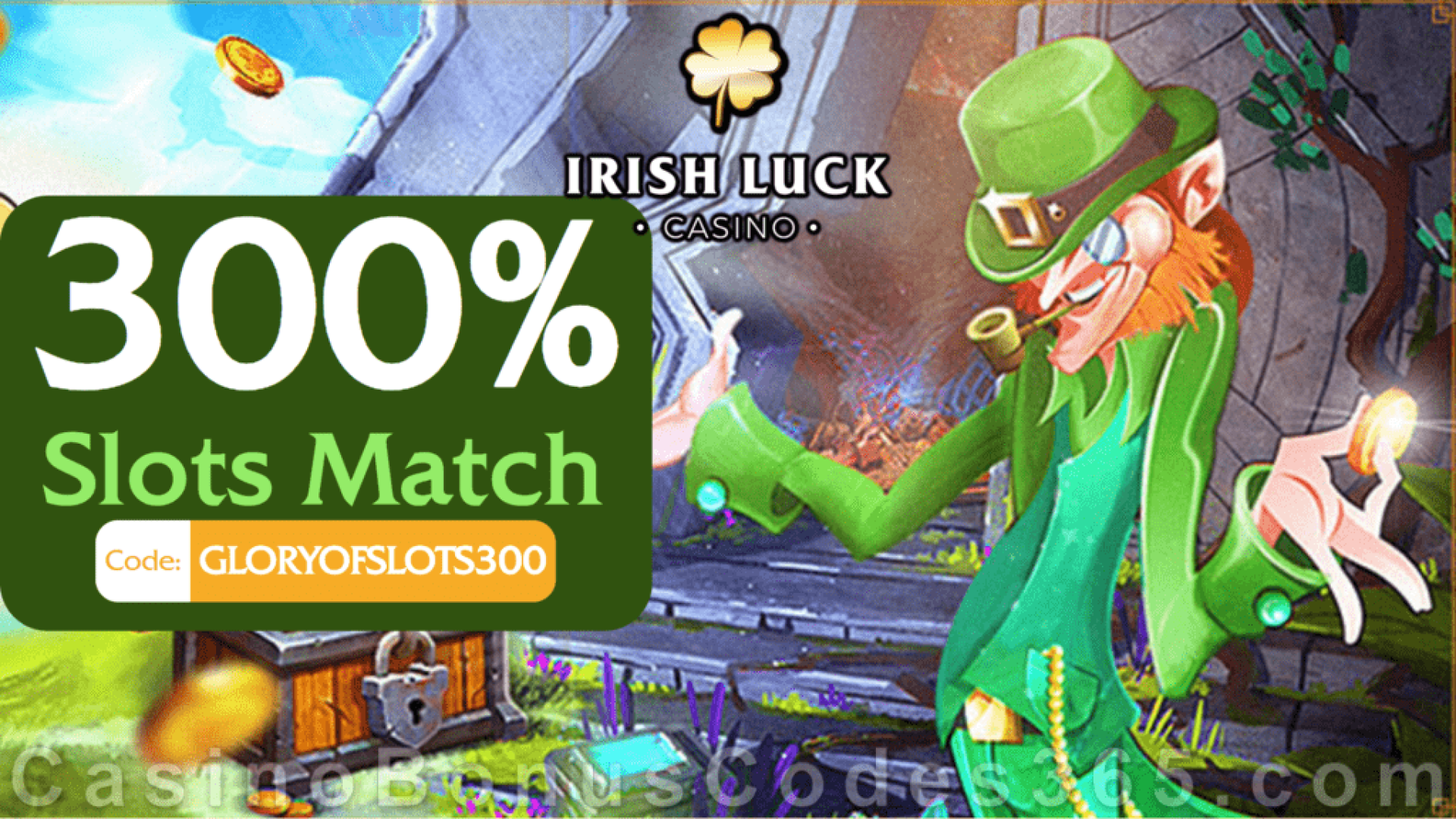 IrishLuck Casino 300% Slots Match Exclusive Welcome Bonus