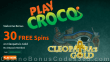 PlayCroco 30 FREE Spins on RTG Cleopatra's Gold Special No Deposit Deal