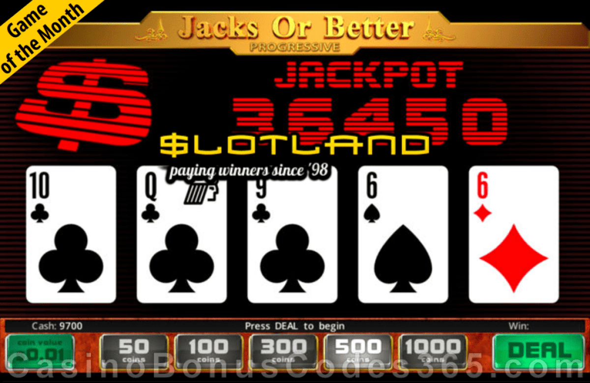 Slotland Casino Jacks or Better Progressive August Game of the Month