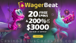 Wager Beat Casino 20 No Deposit FREE Spins plus 200% Match up to $3000 Bonus Welcome Package