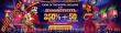 Wild Vegas Casino 250% No Max Bonus plus 50 FREE Spins on RTG Diamond Fiesta August Game of the Month Special Deal