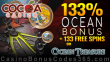 Cocoa Casino 133% Match Bonus plus 133 FREE Rival Gaming Ocean Treasure Spins September Monthly Promotion