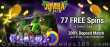 Jumba Bet 77 FREE Spins on Saucify Genii Charmz plus 300% Match Bonus New Players Super Deal
