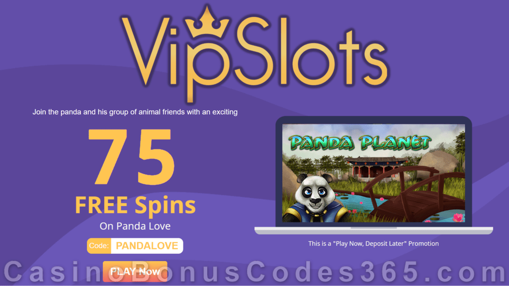 VipSlots Casino 75 FREE Spins on Arrow's Edge Panda Planet Weekly All Players Special Promo
