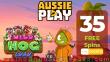 AussiePlay Casino Exclusive 35 FREE RTG Wild Hog Luau Spins No Deposit Welcome Bonus