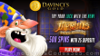 Da Vinci's Gold 500 FREE Spins on Merlin's Mystical Multipliers New Rival Gaming Game Deposit Deal