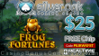 Silver Oak Online Casino New RTG Game Frog Fortunes $25 FREE Chip Special No Deposit Deal