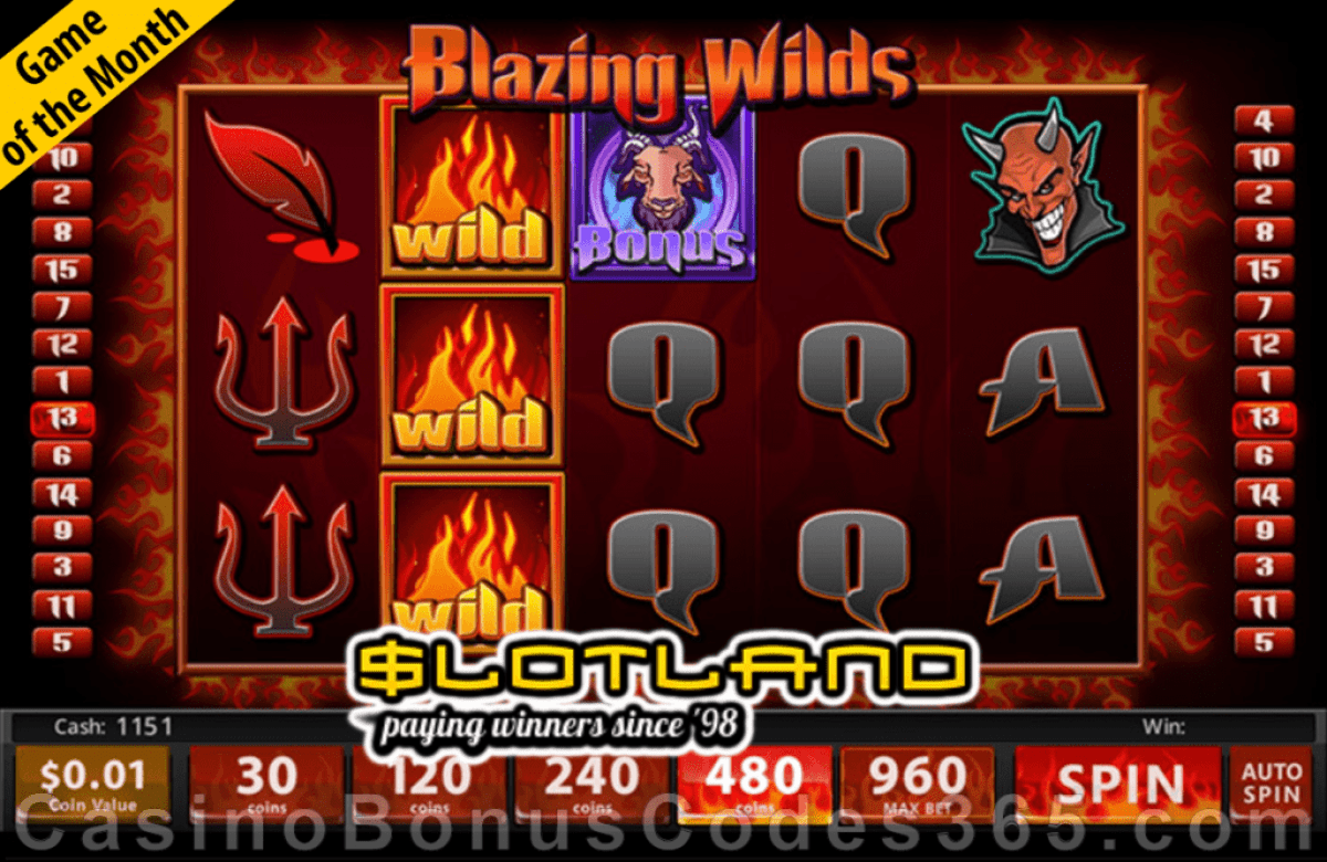 Slotland Casino October Game of the Month Blazing Wilds