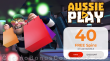 AussiePlay Casino 40 FREE RTG Cash Bandits 3 Spins Black Friday New Players No Deposit Mega Sale