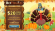 BoVegas Casino $20 FREE Chip plus 325% Match Bonus Turkey Time Thanksgiving Super Deal