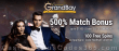 Casino Grand Bay 100 FREE Saucify Spartians Spins plus 500% Match Mega Welcome Bonus