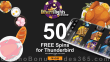 Desert Nights Casino 50 FREE Rival Gaming Thunderbird Spins Special Thanksgiving Deal