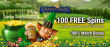 Grand Eagle Casino Black Friday 100 FREE Saucify Lucky Leprechauns Spins plus 300% Match Bonus Super Deal