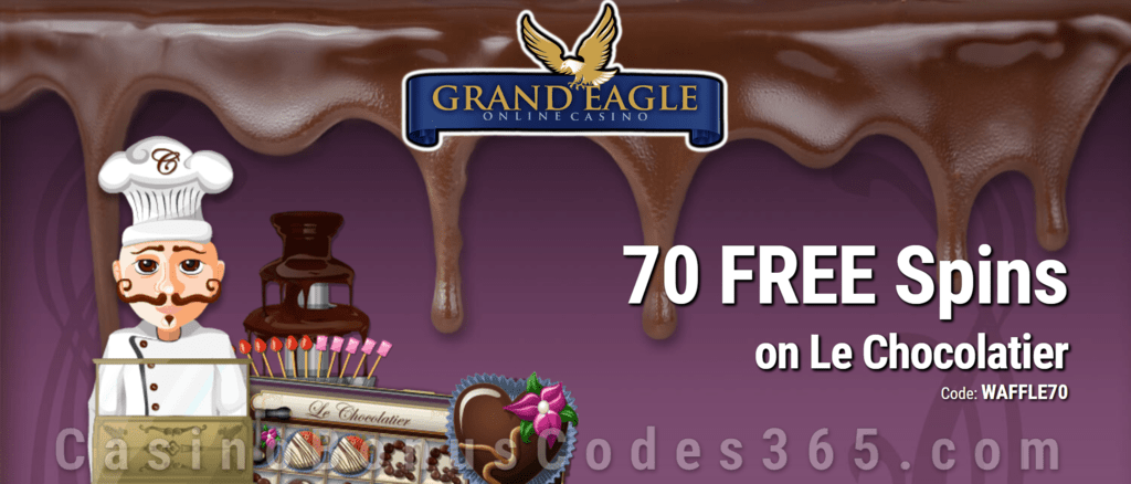 Grand Eagle Casino 70 FREE Spins on Saucify Le Chocolatier Exclusive No Deposit Deal
