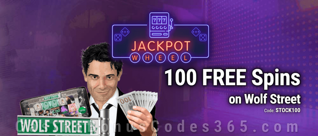 Jackpot Wheel 100 FREE Saucify Wolf Street Spins Exclusive No Deposit All Players Promo
