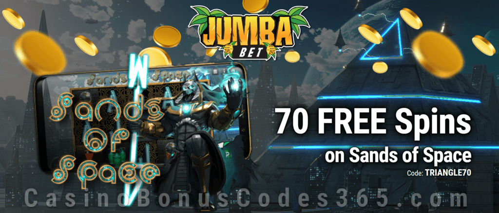 Jumba Bet Exclusive No Deposit 70 FREE Saucify Sands of Space Spins Offer