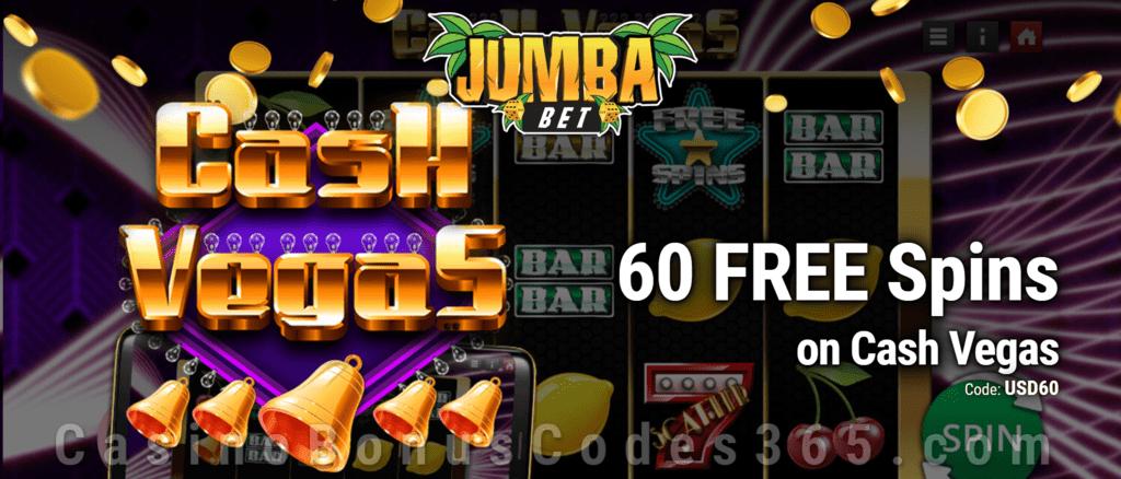 Jumba Bet Exclusive No Deposit 60 FREE Saucify Cash Vegas Spins Offer
