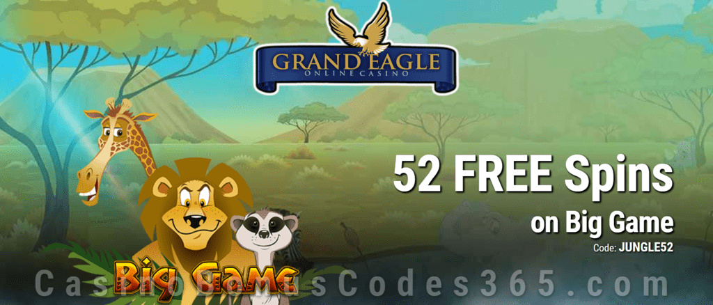 Grand Eagle Casino Exclusive 85 FREE Saucify Big Game Spins Special No Deposit Deal