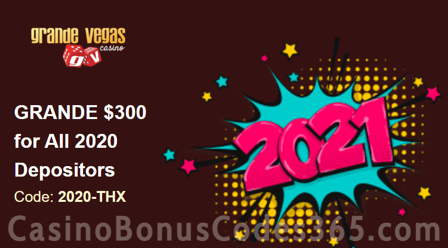 Grande Vegas Casino $300 Extra Special Happy New Year Promo