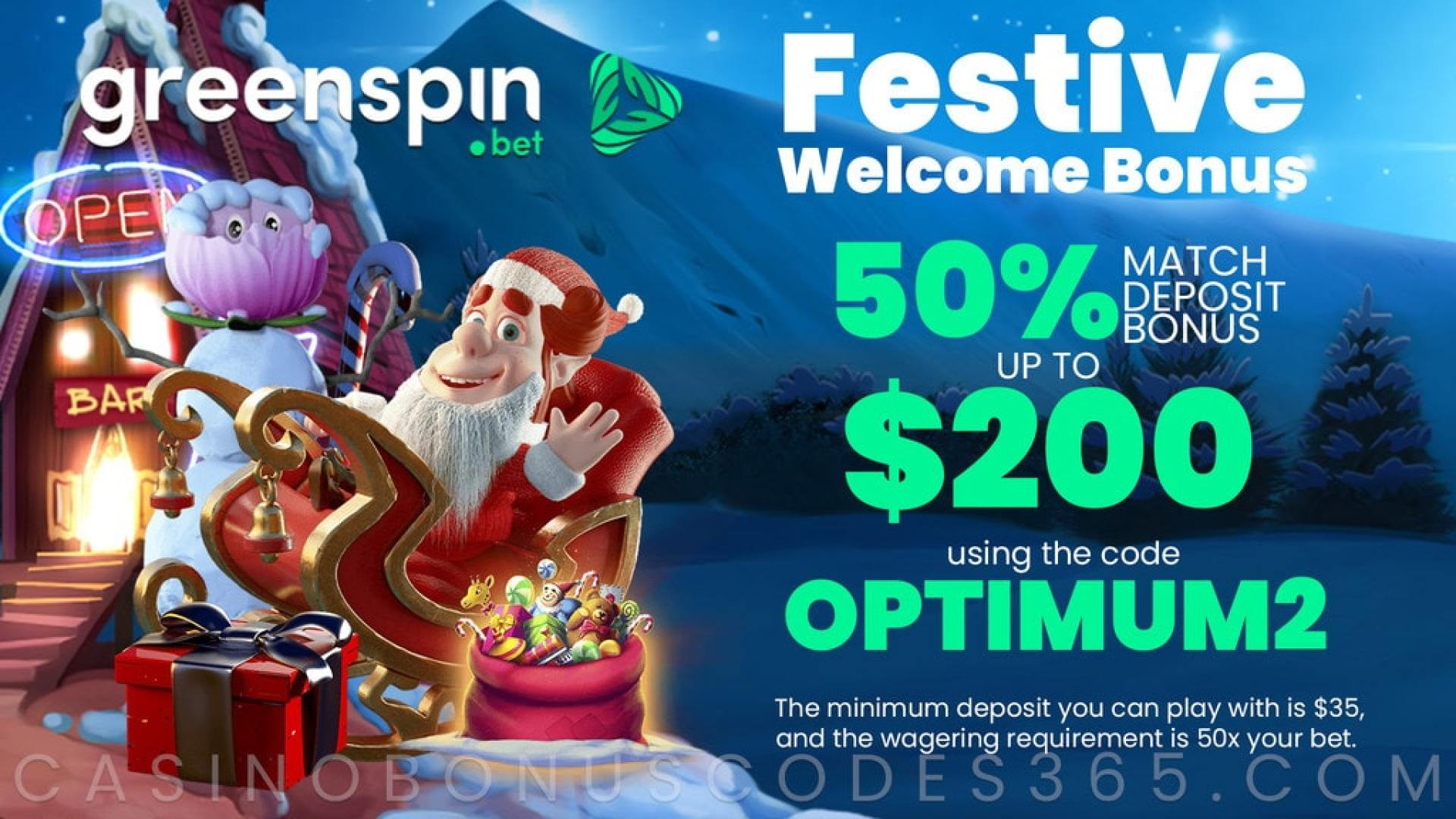 GreenSpin 50% Match Bonus