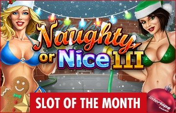 Intertops Casino Red RTG Naughty or Nice III December Slot of the Month Special Deal