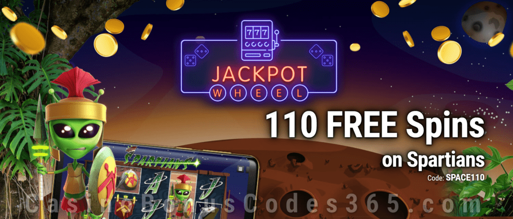 Jackpot Wheel 110 FREE Saucify Spartians Spins Exclusive No Deposit All Players Promo