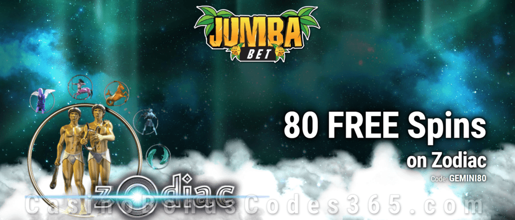 Jumba Bet Exclusive No Deposit 80 FREE Saucify Zodiac Spins Offer
