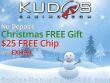 Kudos Casino $25 FREE Chip No Deposit Christmas Gift