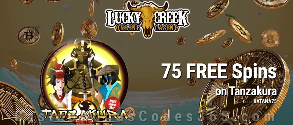 Lucky Creek 75 FREE Spins on Saucify Tanzakura Exclusive Promo