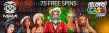 SlotoCash Casino and Miami Club Casino December Special Deal RTG Epic Holiday Party WGS Cherry Blossoms Birds of Paradise
