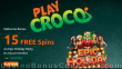 PlayCroco New Year 2021 15 FREE Spins on RTG Epic Holiday Party Special All Players No Deposit Deal