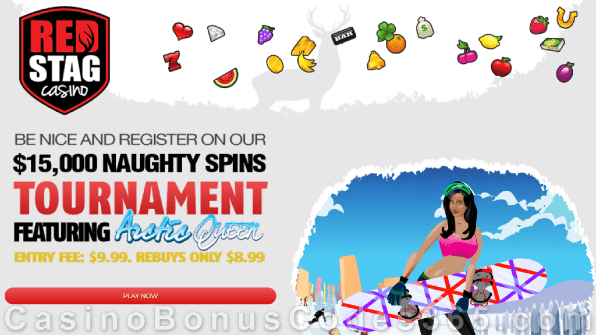 Red Stag Casino Naughty Spins $15000 Tournament WGS Artic Queen