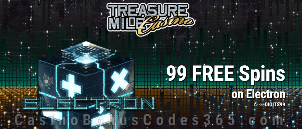 Treasure Mile Casino 99 Exclusive FREE Spins on Saucify Electron