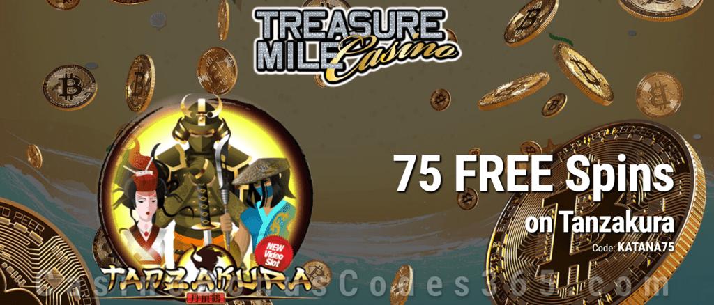 Treasure Mile Casino 75 FREE Spins on Saucify Tanzakura Exclusive Offer