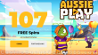 AussiePlay Casino 107 FREE Spins on RTG Football Fortunes Special Deposit Welcome Deal