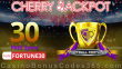 Cherry Jackpot New RTG Game 30 FREE Spins on Football Fortunes Special No Deposit Welcome Deal