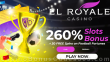 El Royale Casino 260% Match Bonus plus 30 FREE RTG Football Fortunes Spins Special Welcome Offer