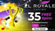 El Royale Casino 35 FREE RTG Football Fortunes Spins Special No Deposit New Players Promo