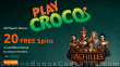 PlayCroco 20 FREE RTG Achilles Deluxe Spins Special No Deposit Promo