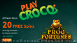 PlayCroco 20 FREE RTG Frog Fortunes Spins No Deposit All Players Special Deal