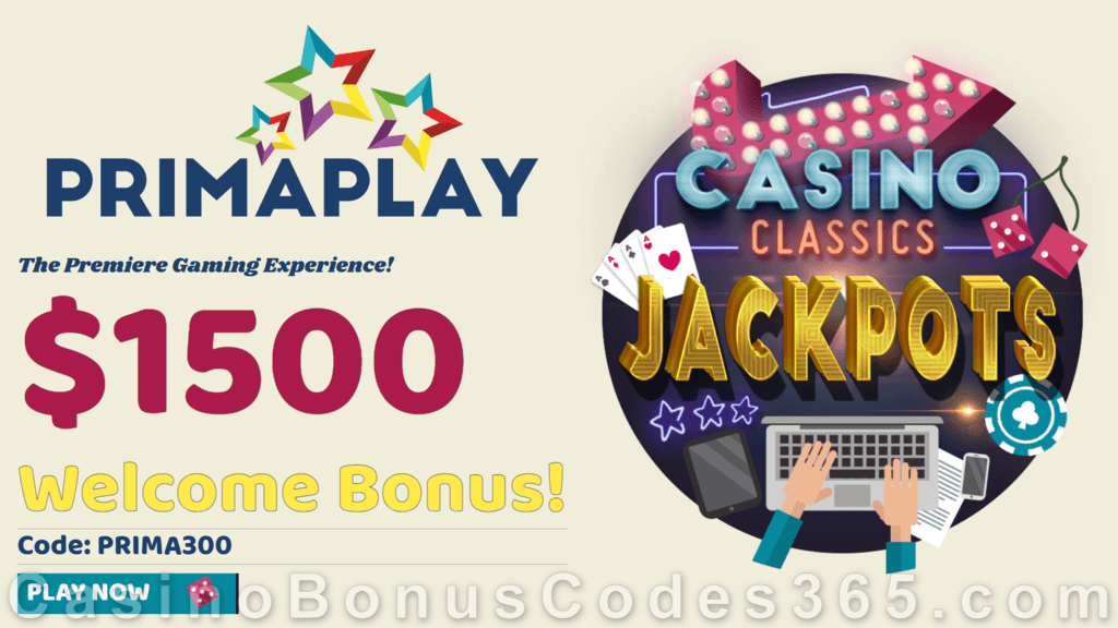 Prima Play $1500 Welcome Bonus